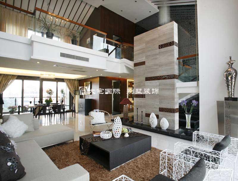 现代中式 杭州西湖豪庭复式样板
