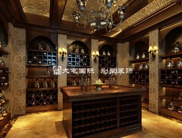 更能够体会到红酒文化与别墅装修设计艺术之间的联系