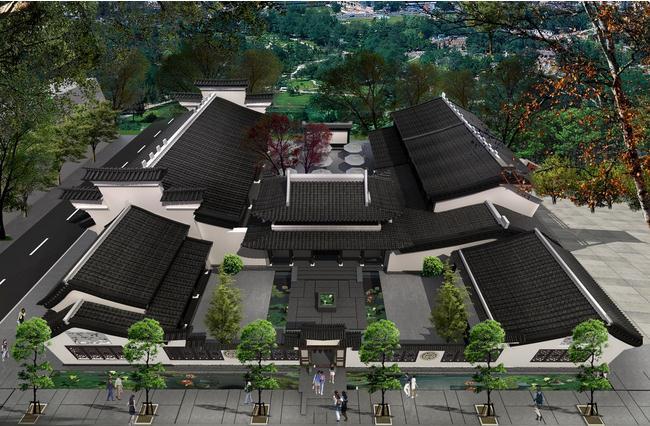 四合院别墅对称的庭院借鉴欣赏-浅析现代四合院别墅设计的发展 图文