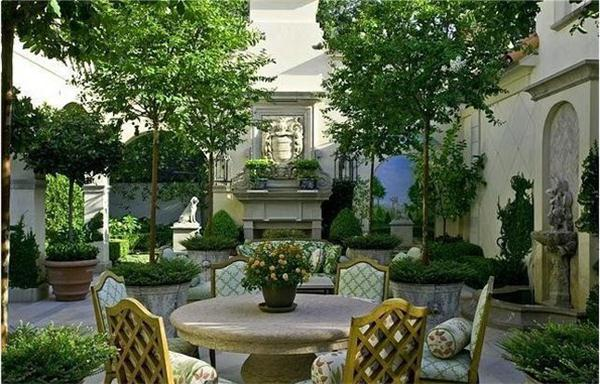 欧式别墅庭院风景图引用欣赏