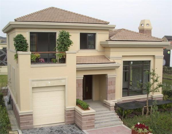 现代时尚的农村小别墅设计有时候,也采用较好的欧式风格建筑装修设计
