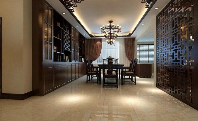 现代中式独栋别墅装饰设计效果图大全