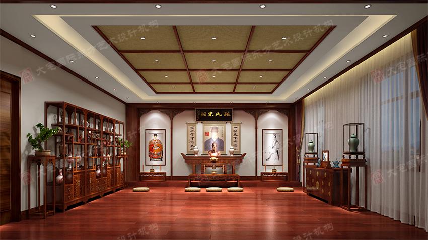 欧式风格      三号办公楼三层董事长办公室效果图   不同的装饰元素