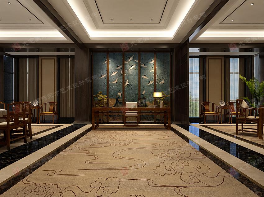 首页 设计案例 现代中式风格  中式别墅会所设计餐厅兼容并包,将中式