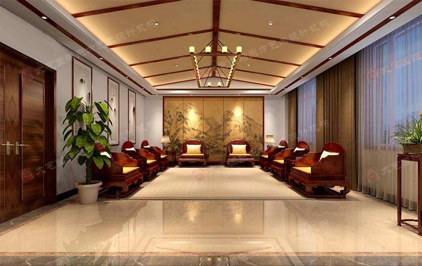 三号办公楼二层接待室效果图